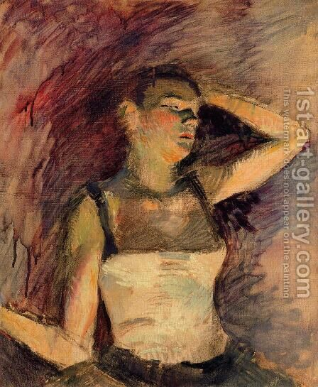 Study Of A Dancer by Toulouse-Lautrec - Reproduction Oil Painting
