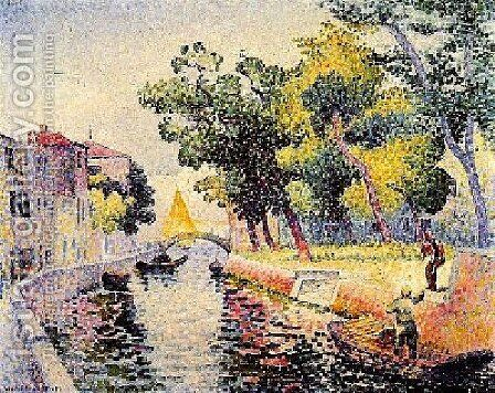 River At San Trovaso by Henri Edmond Cross - Reproduction Oil Painting