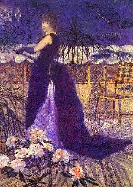Hector France Nee Irma Clare by Henri Edmond Cross - Reproduction Oil Painting
