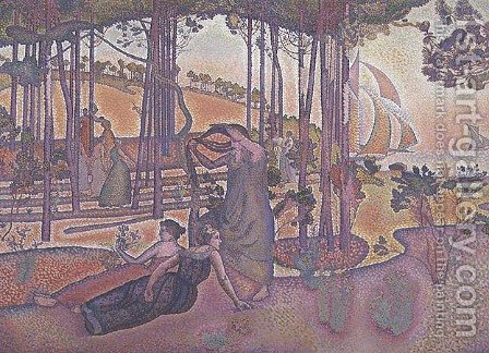 Evening Breeze, 1893-94 by Henri Edmond Cross - Reproduction Oil Painting