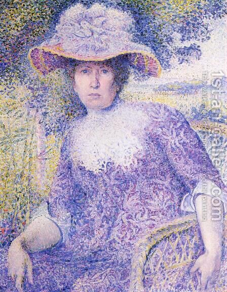 Portrait Of Madame Cross by Henri Edmond Cross - Reproduction Oil Painting