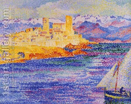 Antibes by Henri Edmond Cross - Reproduction Oil Painting