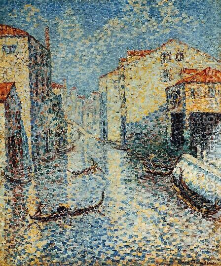 A Venetian Canal by Henri Edmond Cross - Reproduction Oil Painting