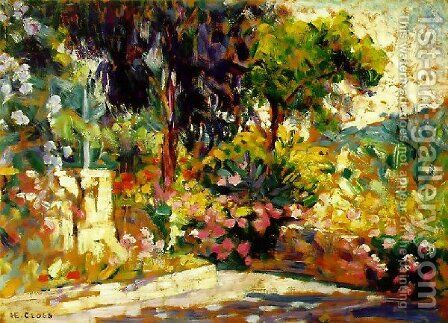 Flowered Terrace by Henri Edmond Cross - Reproduction Oil Painting