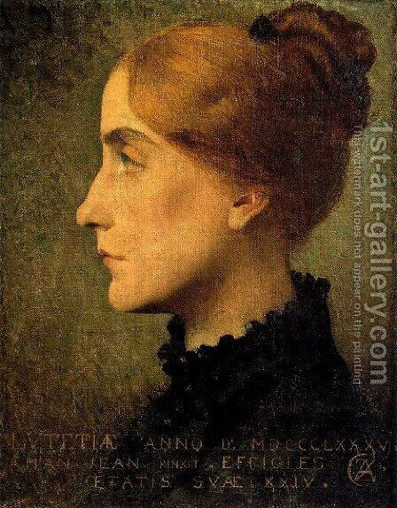 Retrato by Edmond-Francois Aman-Jean - Reproduction Oil Painting