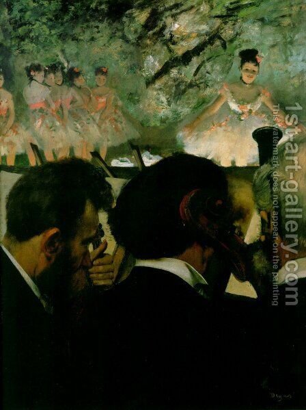 Orchestra Musicians by Edgar Degas - Reproduction Oil Painting