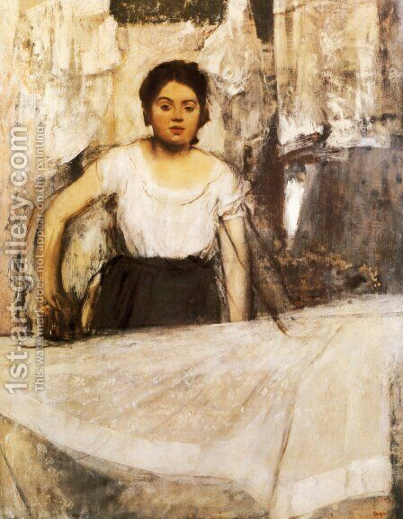 Woman Ironing by Edgar Degas - Reproduction Oil Painting
