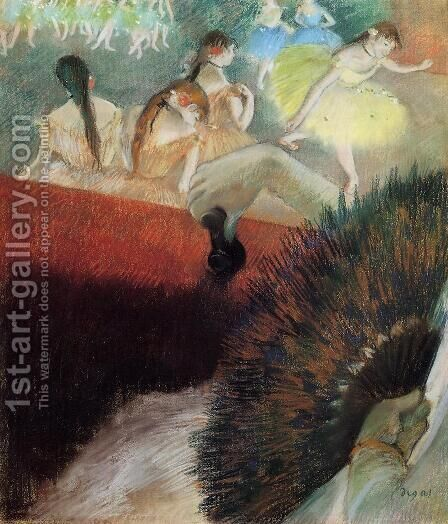 At The Ballet by Edgar Degas - Reproduction Oil Painting