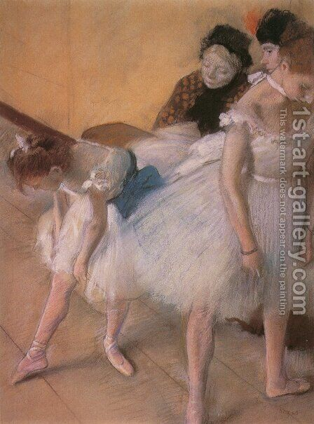 Before The Rehearsal by Edgar Degas - Reproduction Oil Painting