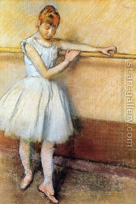 Dancer At The Barre by Edgar Degas - Reproduction Oil Painting