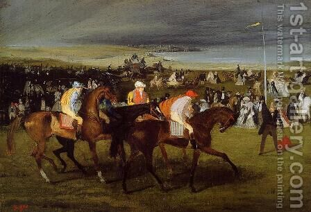 At The Races The Start by Edgar Degas - Reproduction Oil Painting