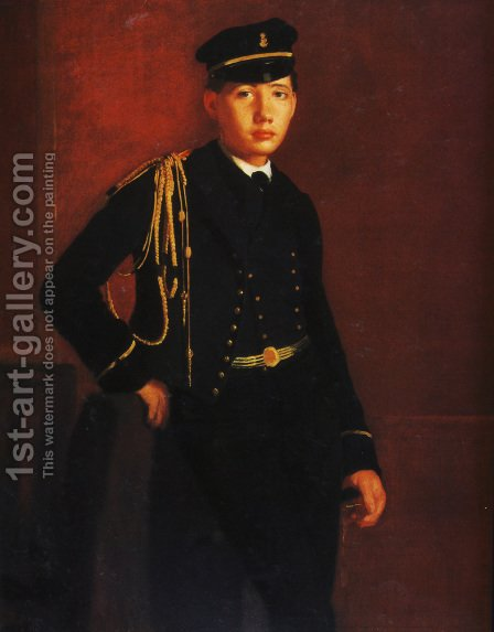 Achille De Gas In The Uniform Of A Cadet by Edgar Degas - Reproduction Oil Painting