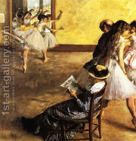 Ballet Class 1881 by Edgar Degas - Reproduction Oil Painting
