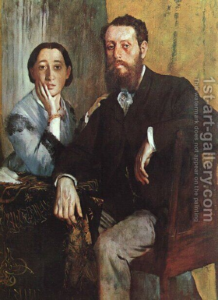The Duke and Duchess Morbilli 1865 by Edgar Degas - Reproduction Oil Painting