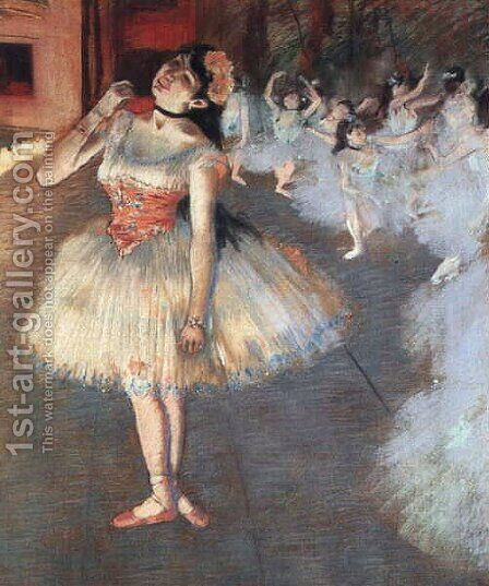 The Star 1871-81 by Edgar Degas - Reproduction Oil Painting