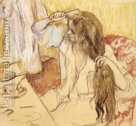 Woman At Her Toilet by Edgar Degas - Reproduction Oil Painting