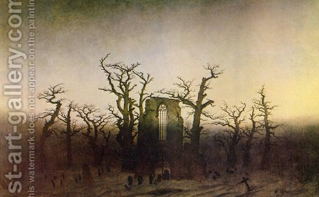 The Abbey in the Oakwood 1809_10 by Caspar David Friedrich - Reproduction Oil Painting