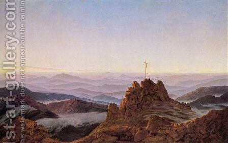 Morning in the Riesengebirge 1810-11 by Caspar David Friedrich - Reproduction Oil Painting