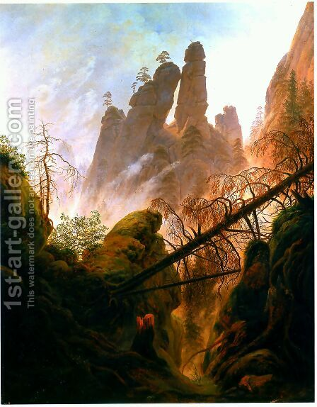 Rocky Ravine 1822-23 by Caspar David Friedrich - Reproduction Oil Painting