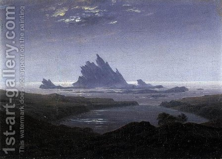 Rocky Reef on the Sea Shore  c.1824 by Caspar David Friedrich - Reproduction Oil Painting