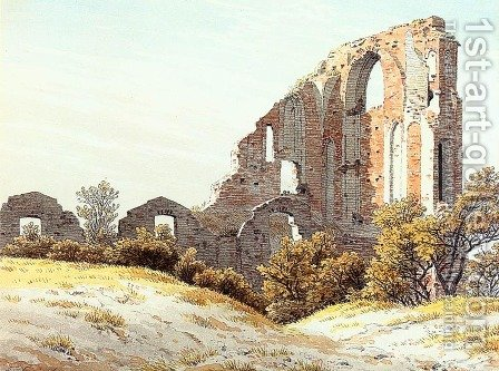 The Ruins Of Eldena 1825 by Caspar David Friedrich - Reproduction Oil Painting
