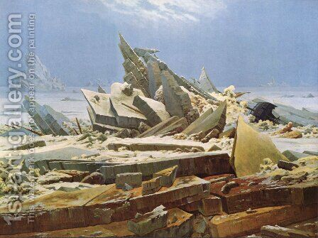 The Sea of Ice 1824 by Caspar David Friedrich - Reproduction Oil Painting