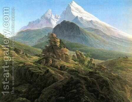 The Watzmann 1824-25 by Caspar David Friedrich - Reproduction Oil Painting
