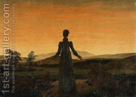 Woman before the Rising Sun (Woman before the Setting Sun) 1818-20 by Caspar David Friedrich - Reproduction Oil Painting