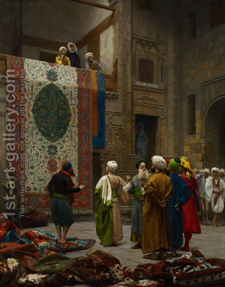 The Carpet Merchant by Jean-Léon Gérôme - Reproduction Oil Painting