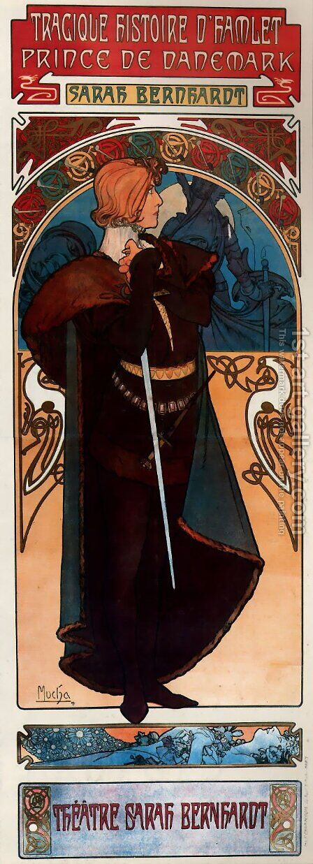 Hamlet by Alphonse Maria Mucha - Reproduction Oil Painting