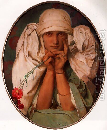 Jaroslava by Alphonse Maria Mucha - Reproduction Oil Painting