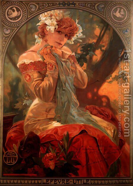 Lefevre Utile by Alphonse Maria Mucha - Reproduction Oil Painting