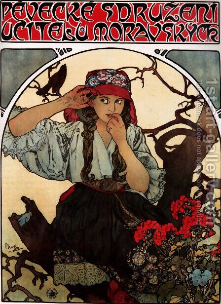 Moravian Teachers Choir by Alphonse Maria Mucha - Reproduction Oil Painting