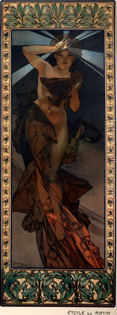 Morning Star by Alphonse Maria Mucha - Reproduction Oil Painting