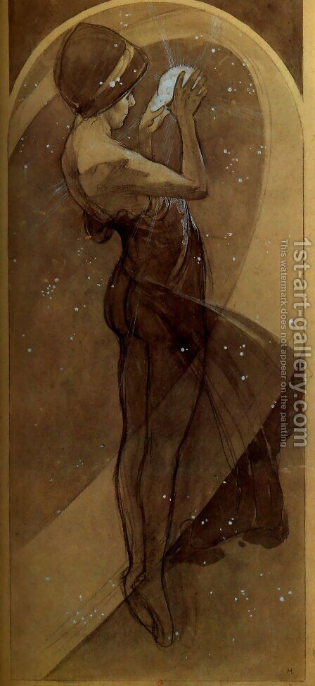 North Star by Alphonse Maria Mucha - Reproduction Oil Painting