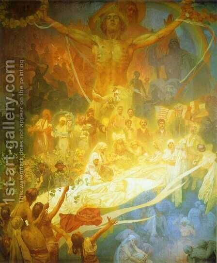 The Apotheosis Of The Slavs by Alphonse Maria Mucha - Reproduction Oil Painting