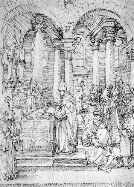 Mass by Albrecht Durer - Reproduction Oil Painting