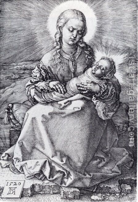 Madonna With The Swaddled Infant by Albrecht Durer - Reproduction Oil Painting
