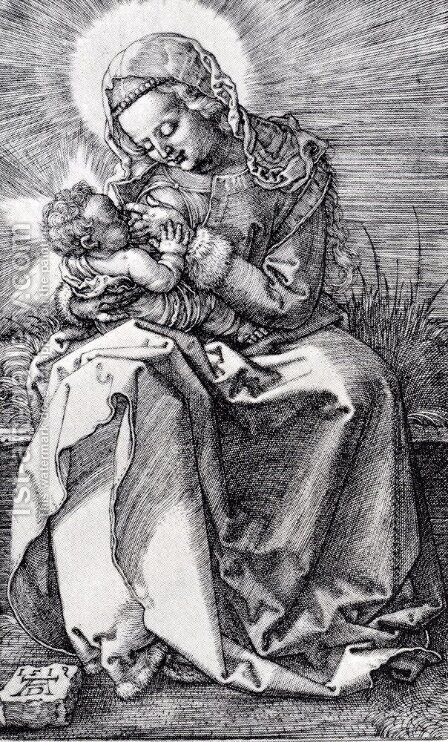 Madonna Nursing by Albrecht Durer - Reproduction Oil Painting