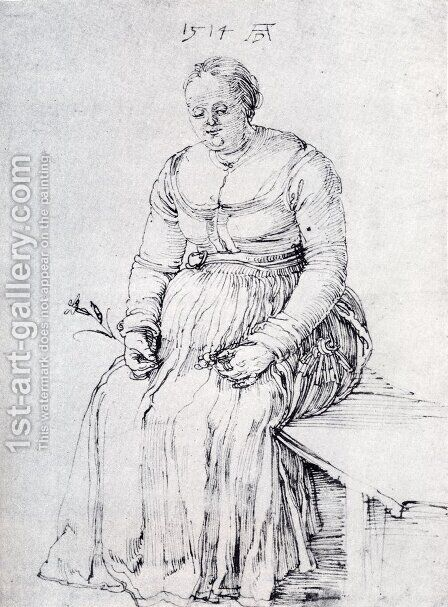 Seated Woman by Albrecht Durer - Reproduction Oil Painting