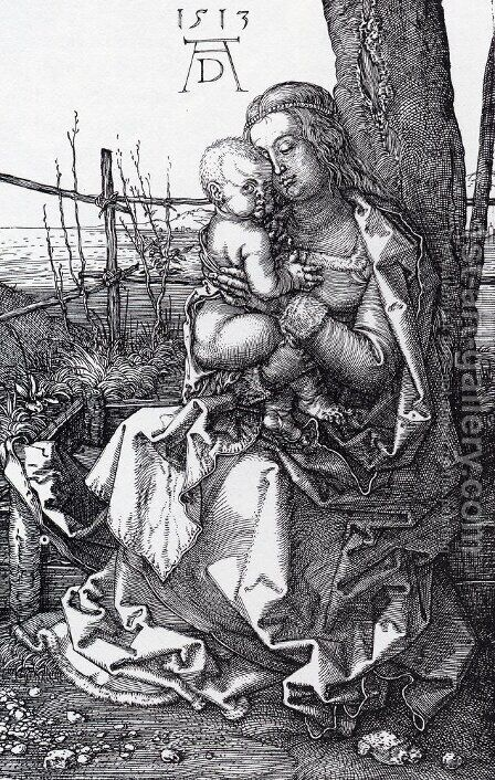 Madonna By The Tree by Albrecht Durer - Reproduction Oil Painting