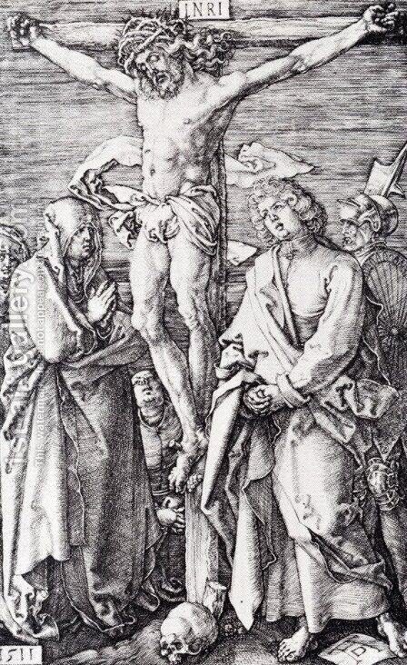 Crucifixion (Engraved Passion) by Albrecht Durer - Reproduction Oil Painting