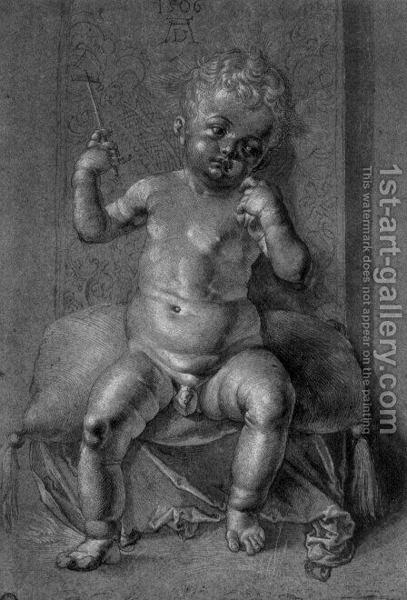 Seated Nude Child by Albrecht Durer - Reproduction Oil Painting