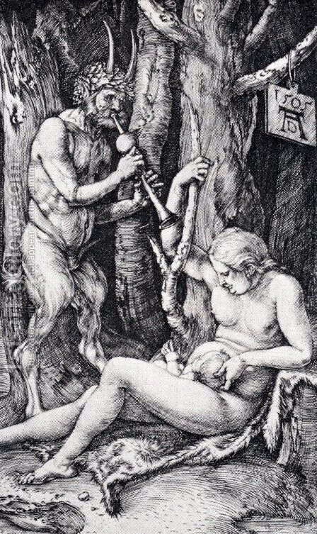Satyr Family by Albrecht Durer - Reproduction Oil Painting