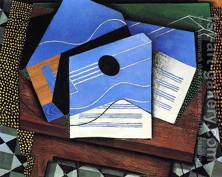 Guitar On A Table by Juan Gris - Reproduction Oil Painting