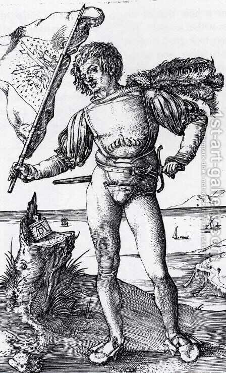 The Standard Bearer by Albrecht Durer - Reproduction Oil Painting