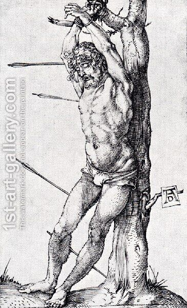 St  Sebastian At The Tree by Albrecht Durer - Reproduction Oil Painting