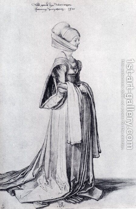 A Nuremberg Costume Study by Albrecht Durer - Reproduction Oil Painting