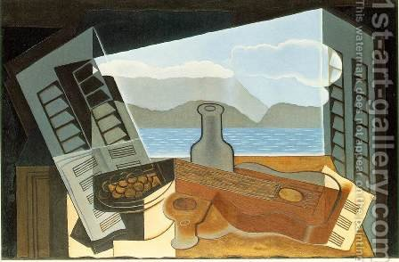 The Open Window by Juan Gris - Reproduction Oil Painting