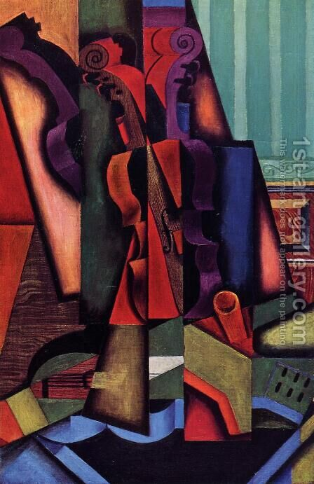 Violin And Guitar by Juan Gris - Reproduction Oil Painting